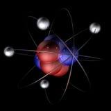 molekyl för 2 atom vektor illustrationer