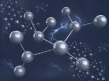 molekyl för chemical element Arkivbild