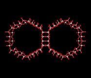 Molekyl MCM-41 på svart Arkivbild