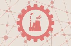 Molekyl och kommunikationsbakgrund Arkivbilder