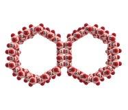 Molekyl som MCM-41 isoleras på vit Arkivbilder