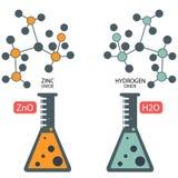 Molekylar för fusion för beståndsdelar för kemilabb Royaltyfria Foton