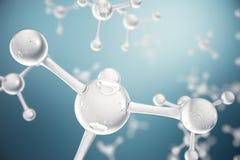 molekylar för illustration 3D Atombacgkround Medicinsk bakgrund för baner eller reklamblad Molekylär struktur på det atom- Arkivbild