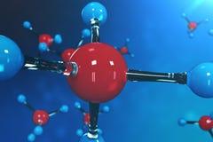 molekylar för tolkning 3D Atombacgkround Medicinsk bakgrund för baner eller reklamblad Molekylär struktur på det atom- royaltyfri illustrationer