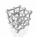 molekylen framför Arkivbild