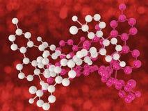 molekylen strukturerar Royaltyfria Bilder