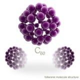 Molekylstruktur av fullerenen vektor illustrationer