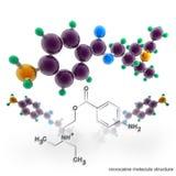 Molekylstruktur av novocainen stock illustrationer