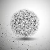 Molekylstruktur, grå bakgrund för Arkivfoto