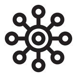 Molekylsymbol royaltyfri illustrationer