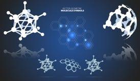 Molekylsymboler Arkivfoto