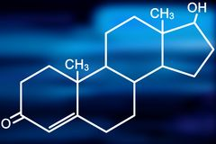 molekyltestosterone Royaltyfri Bild