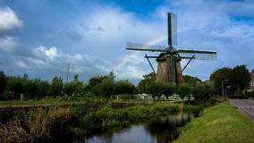 Molen de Veer. Is the rebuild of the same windmill burned in 1998. Th windmill can be found in Penningsveer, Haarlem, the Netherlands royalty free stock image