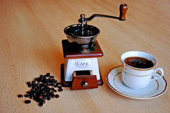 Molen en coffe Royalty-vrije Stock Foto's
