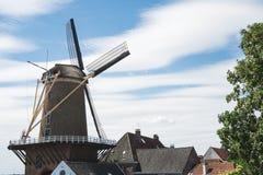 Molen geroepen 'Rijn Engelse Lek 'in Wijk bij Duurstede, Nederland 3 stock afbeelding