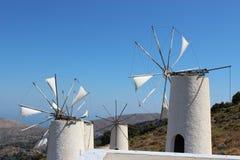 Molen op Kreta Stock Afbeeldingen
