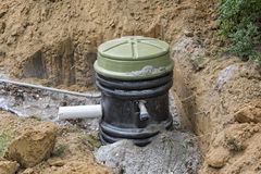 Molen Pump Holding Tank Royalty-vrije Stock Foto's