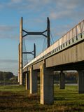 Molenbrug over the IJssel river in Kampen, Netherlands.  Stock Photo