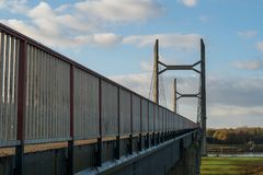 Molenbrug over the IJssel river in Kampen, Netherlands.  Stock Photos