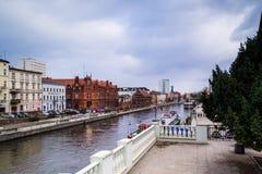 Moleneiland in Bydgoszcz, Polen 02/05/2018 royalty-vrije stock afbeelding