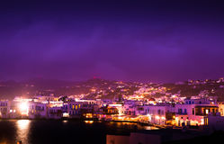 Molens op het Griekse eiland royalty-vrije stock afbeeldingen