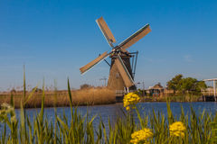 Molens van Kinderdijk. In the Netherlands Stock Photo