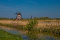 Molens van Kinderdijk. In the Netherlands Royalty Free Stock Photo