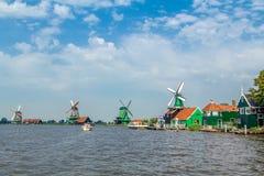 Molens in Zaanse Schans in Zaandam Stock Fotografie