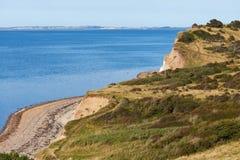 Moler cliffs on island Fur. Landscape with moler cliffs on island Fur Stock Photos