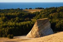 Moler on island Fur. Moler deposits showing the earth layers Stock Image