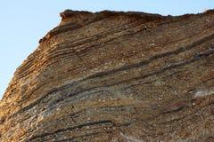 Moler on island Fur. Moler deposits showing the earth layers Stock Photos