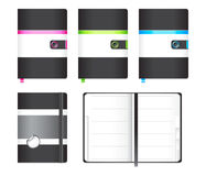 Moleskine notebook Royalty Free Stock Image
