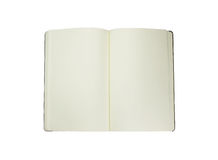 Moleskine on a white background Stock Images