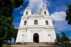Moletai的天主教教会,立陶宛 免版税库存照片