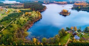 Moletai湖 库存照片