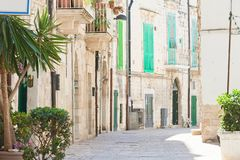 Molfetta, Apulia - Calming atmosphere in the old town of Molfett stock photography