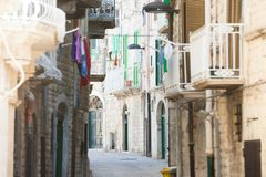 Molfetta, Apulia - Living like the citizens of Molfetta in the M stock photos