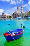 Molfetta - malowniczy miasteczko przybrzeżne w Puglia, Włochy zdjęcia royalty free