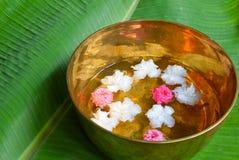 Molhando com flor, para o elderl do respeito Fotografia de Stock