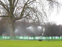 Molhando a grama Imagem de Stock