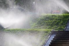 Molhando o gramado Imagem de Stock