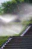 Molhando o gramado Imagens de Stock