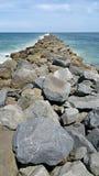 Molhe da entrada de Ponce Fotografia de Stock