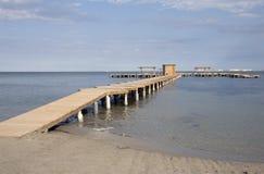 Molhe da praia Imagens de Stock Royalty Free