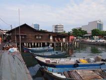 Molhe da vila em Penang Fotos de Stock Royalty Free