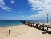 Molhe de Noarlunga do porto Fotos de Stock Royalty Free