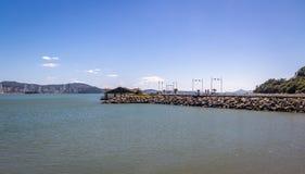 Molhe a Dinamarca Barra Sul Breakwater - Balneario Camboriu, Santa Catarina, Brasil imagens de stock royalty free