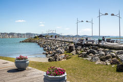 Molhe a Dinamarca Barra Sul Breakwater - Balneario Camboriu, Santa Catarina, Brasil fotos de stock royalty free