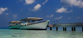 Molhe e barcos Fotos de Stock
