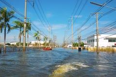 molhe a inundação na propriedade industrial imagem de stock